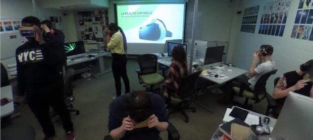 Atelier ONF sur la réalité virtuelle